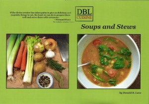 Soups and stews front and back cover