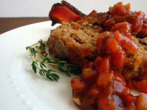 Meatloaf with Red Pepper Tomato Relish